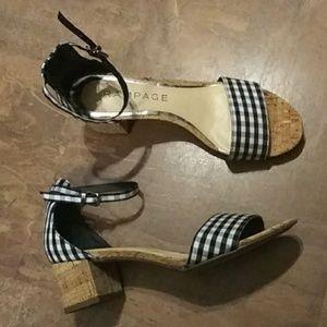 Rampage Black/White Ram Glitterz Sandals SZ-6.5